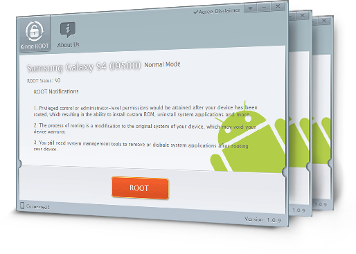 Kingo Android Root, Android Root software, Android one-click